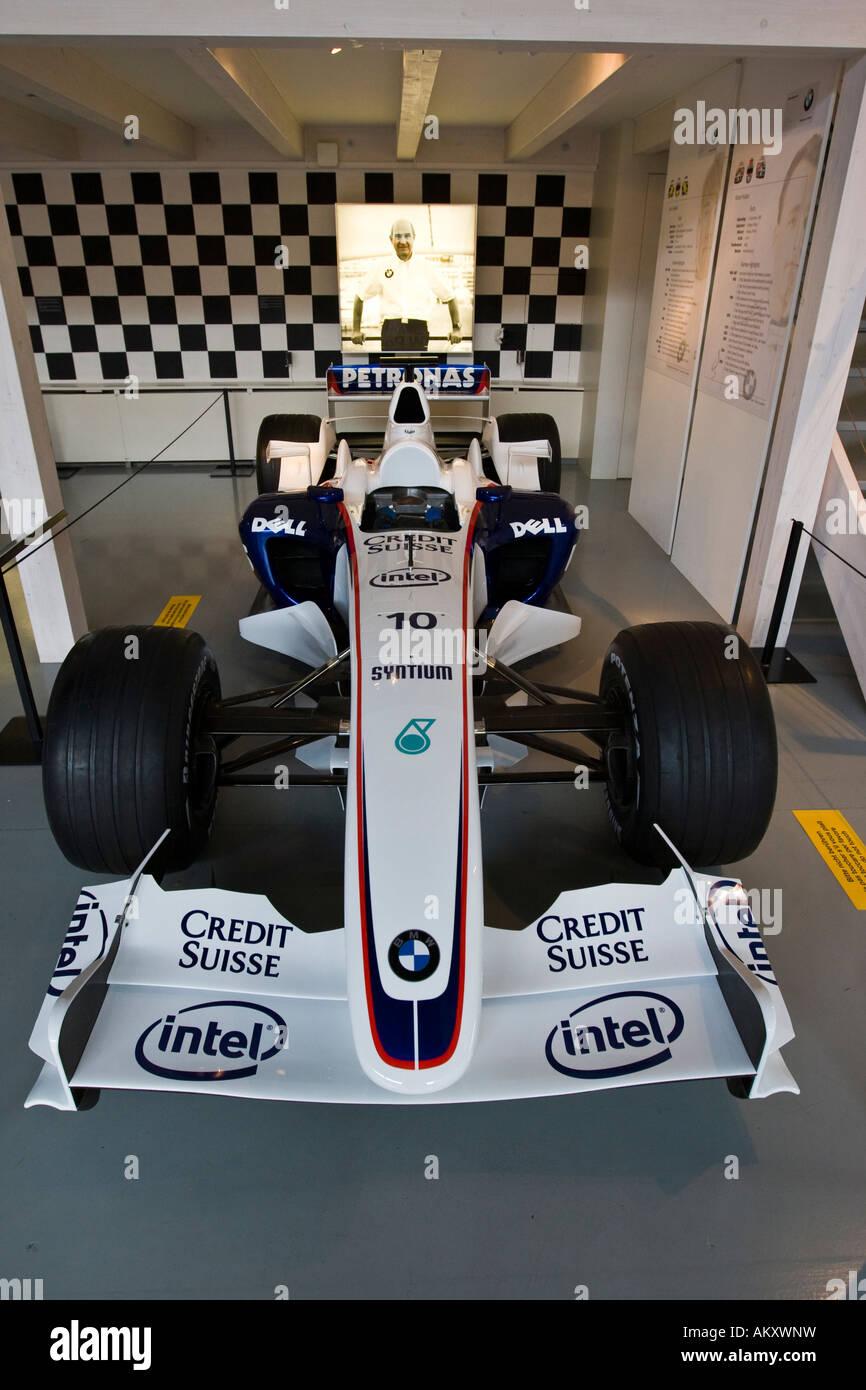 Formula One race car in the Verkehrshaus der Schweiz, Lucerne, Canton Lucerne, Switzerland - Stock Image