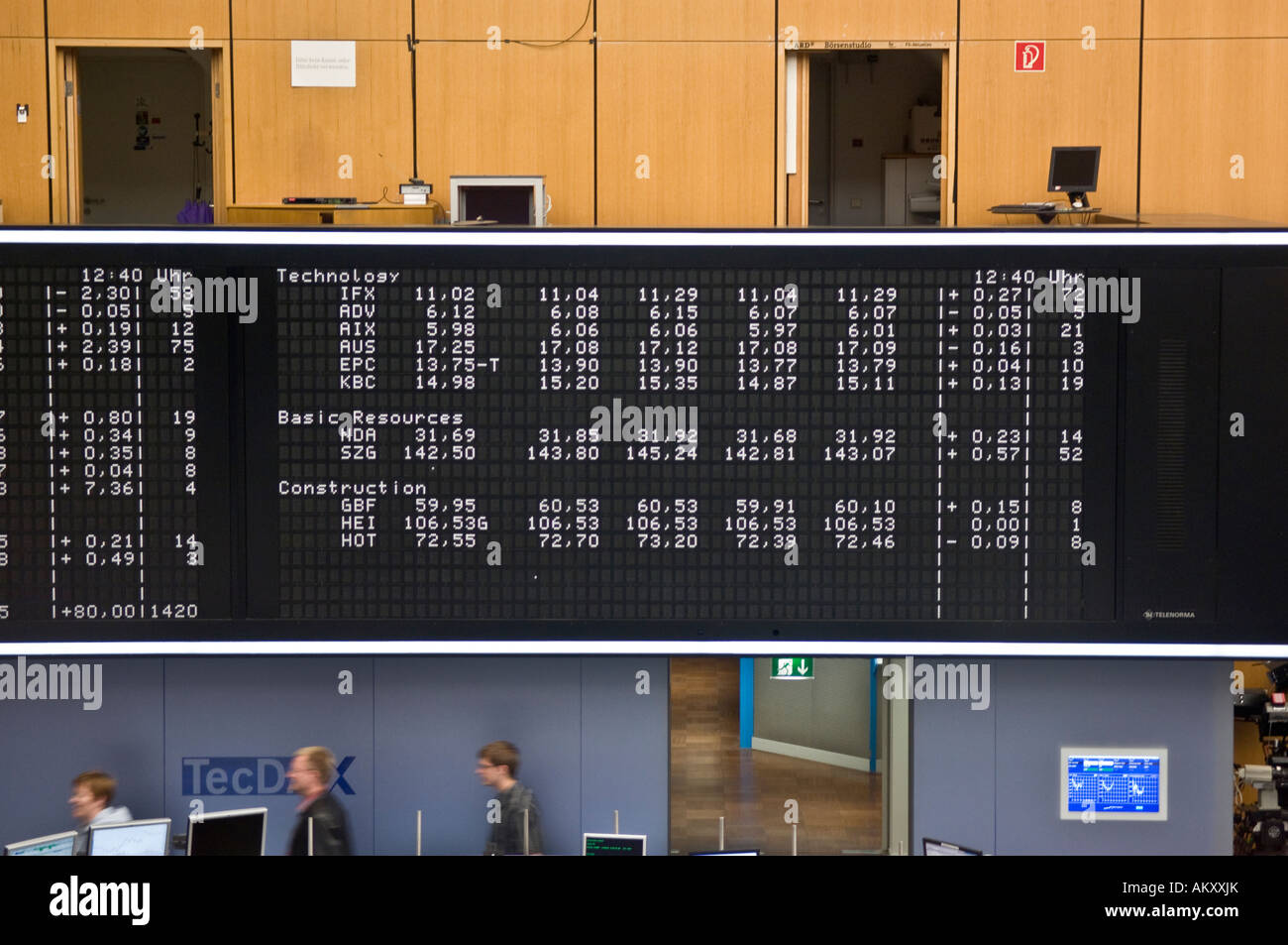 Securities trading, stock exchange Frankfurt, Hesse, Germany Stock Photo