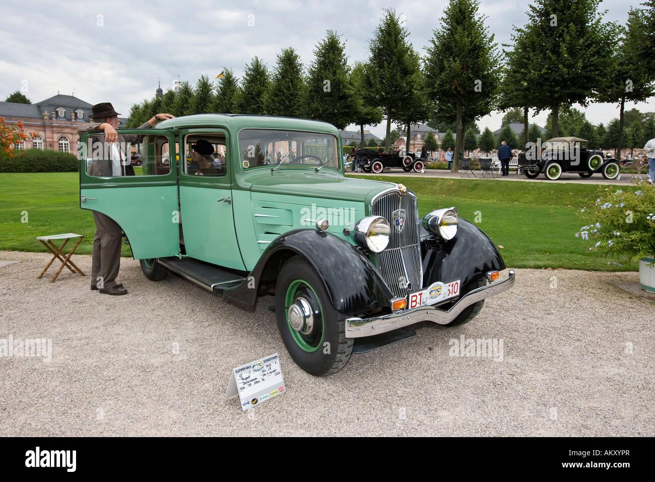 Peugot Berlina Limousin 301 CR France 1933, Vintage Car Gala, Schwetzingen, Baden Wuerttemberg, Germany - Stock Image