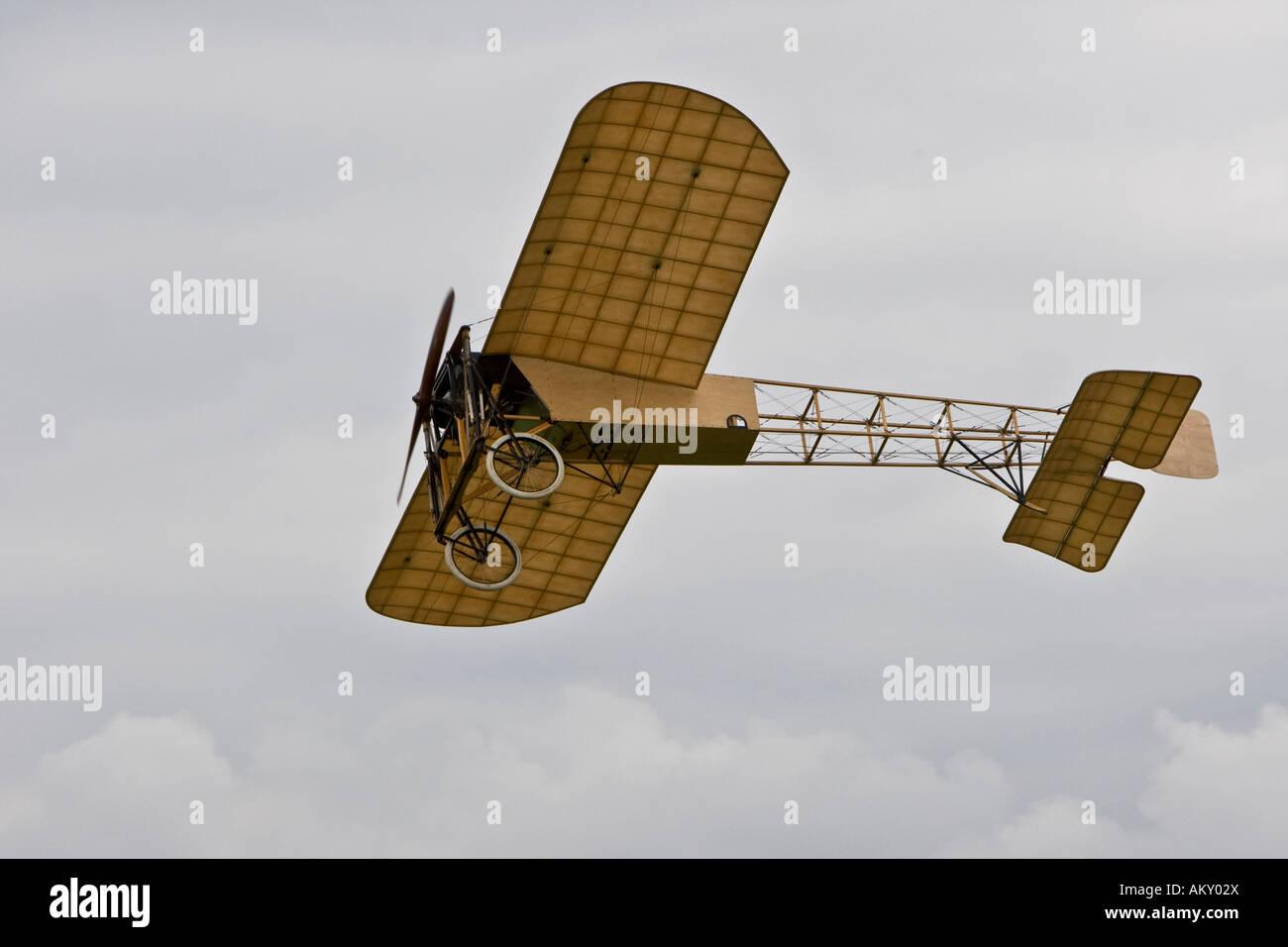 Bleriot XI 'La Manche', Europe's big vintage aeroplane meeting on the Hahnweide, Kirchheim-Teck, Baden - Stock Image