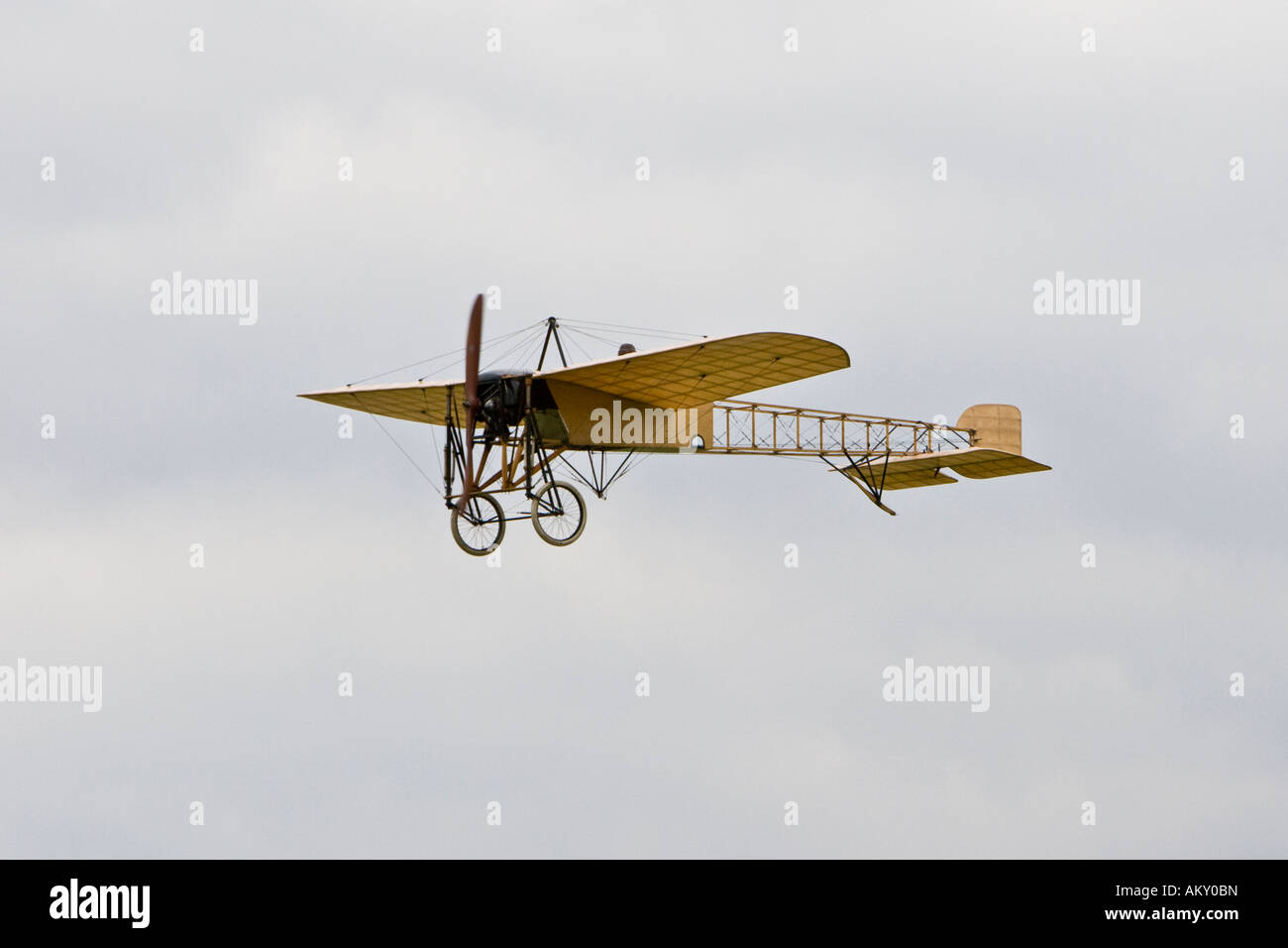 Bleriot XI, 'La Manche', vintage planes meeting at the Hahnweide, Kirchheim-Teck, Baden Wuerttemberg, Germany - Stock Image