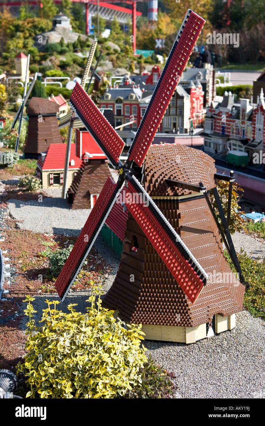 Model of Amsterdam, Legoland, Guenzburg, Bavaria, Germany - Stock Image