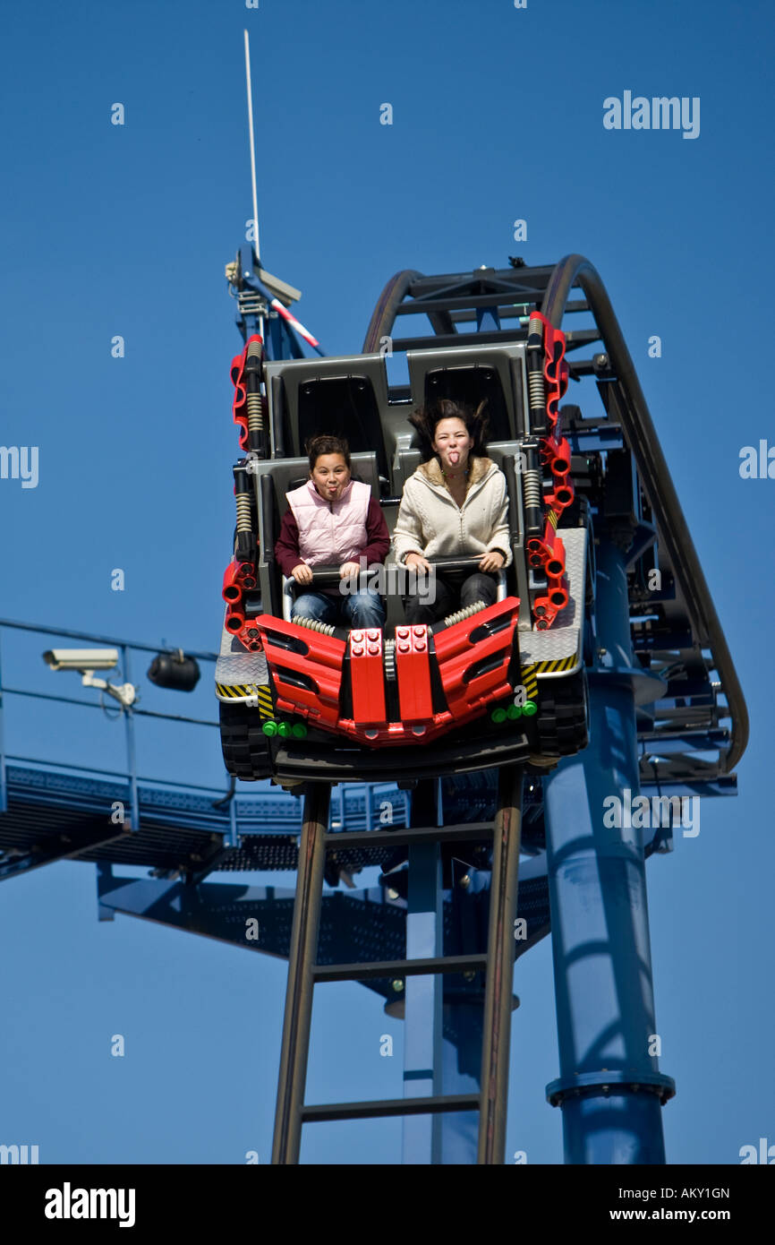 Rollercoaster, Legoland, Guenzburg, Bavaria, Germany Stock Photo