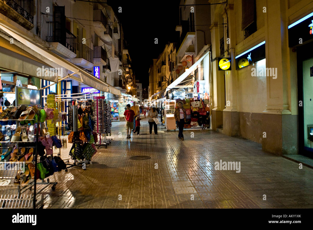 night life in the streets of the old town of eivissa ibiza stock photo 15094218 alamy. Black Bedroom Furniture Sets. Home Design Ideas