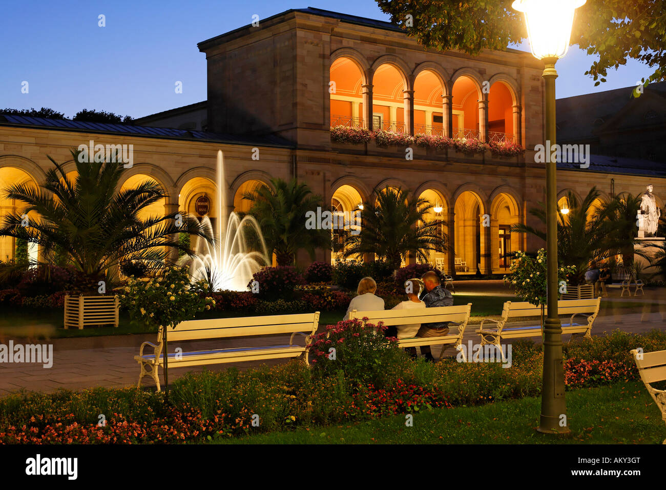 Arcades, Bad Kissingen, Rhoen, Franconia, Bavaria, Germany Stock Photo