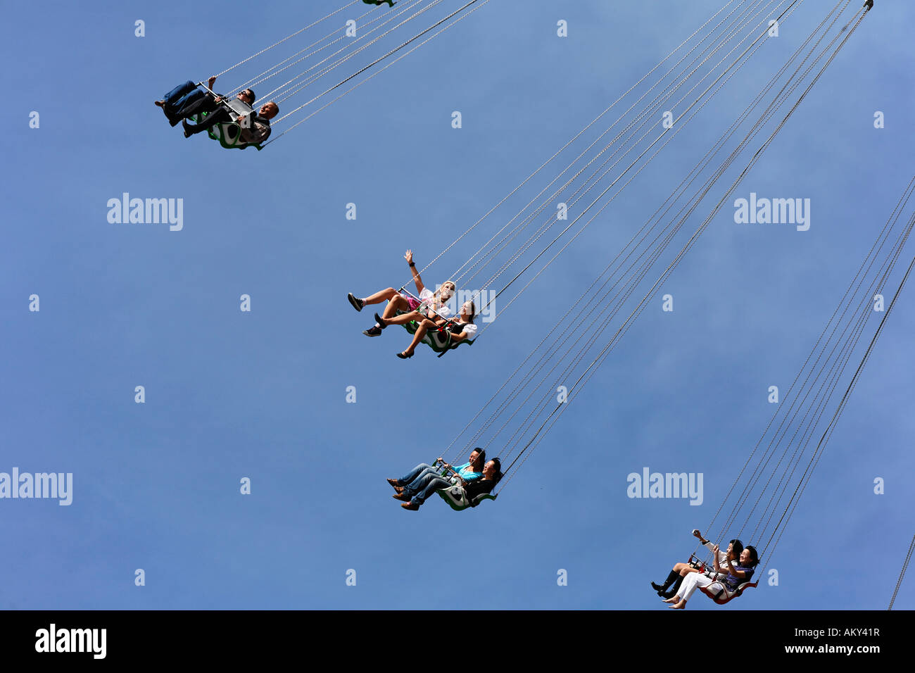 Oktoberfest, Munich beer festival, Star Flyer, Bavaria, Germany - Stock Image