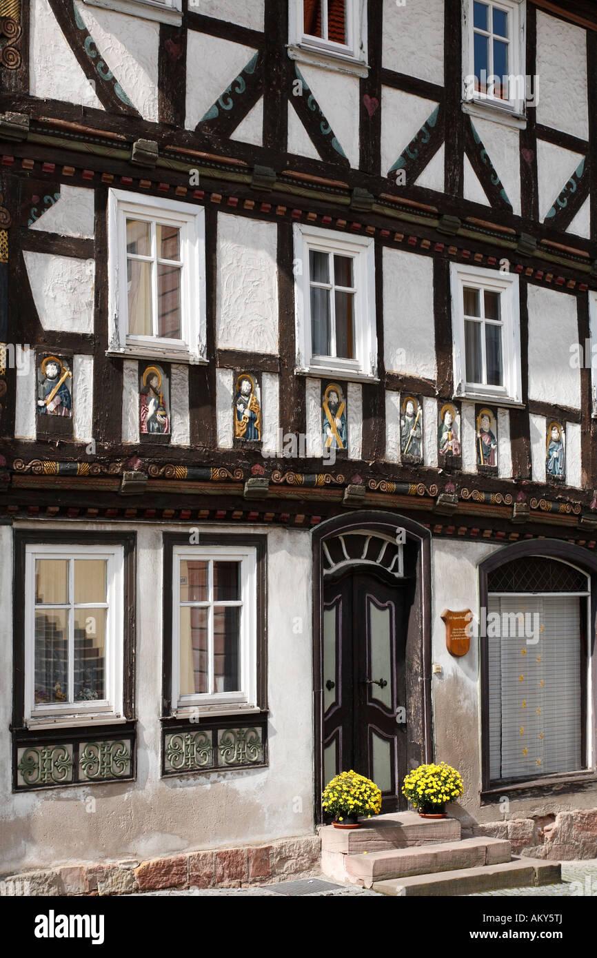 Elf-Apostelhaus (eleven apostles house), Tann, Rhoen, Hesse, Germany - Stock Image