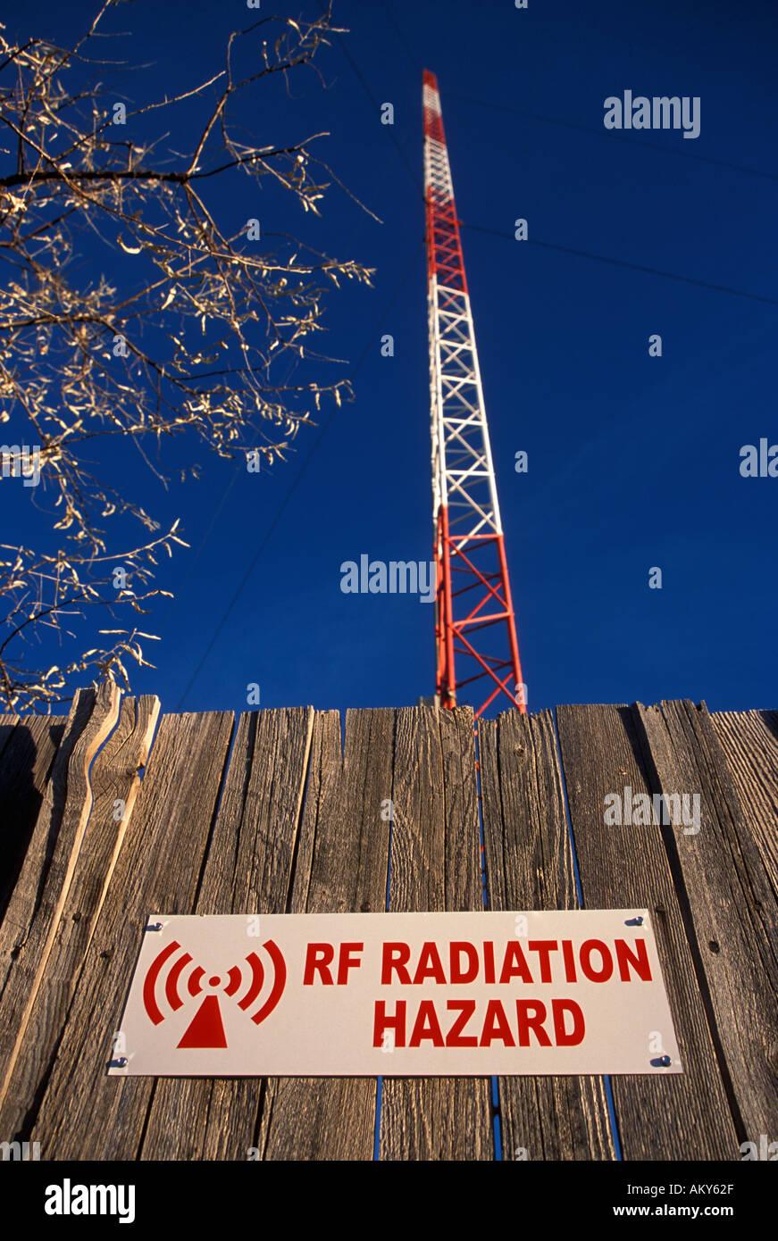 Broadcasting tower antenna Stock Photo