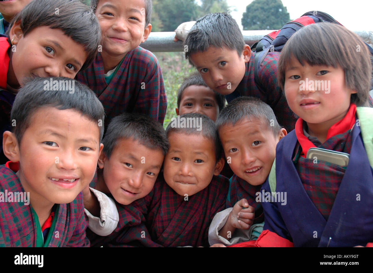 Children, Bhutan , Himalaya - Stock Image
