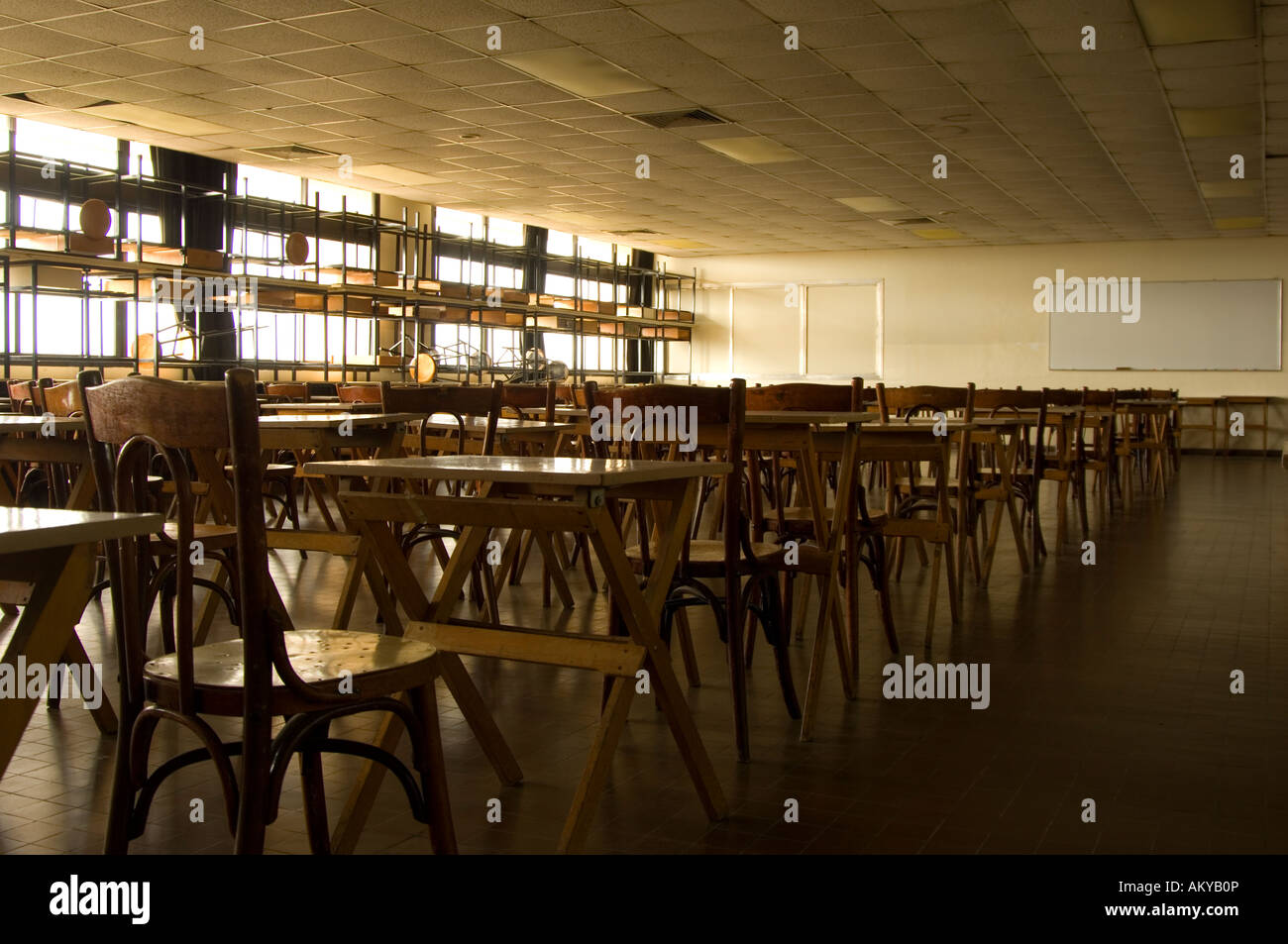 Empty university lecture hall - Stock Image