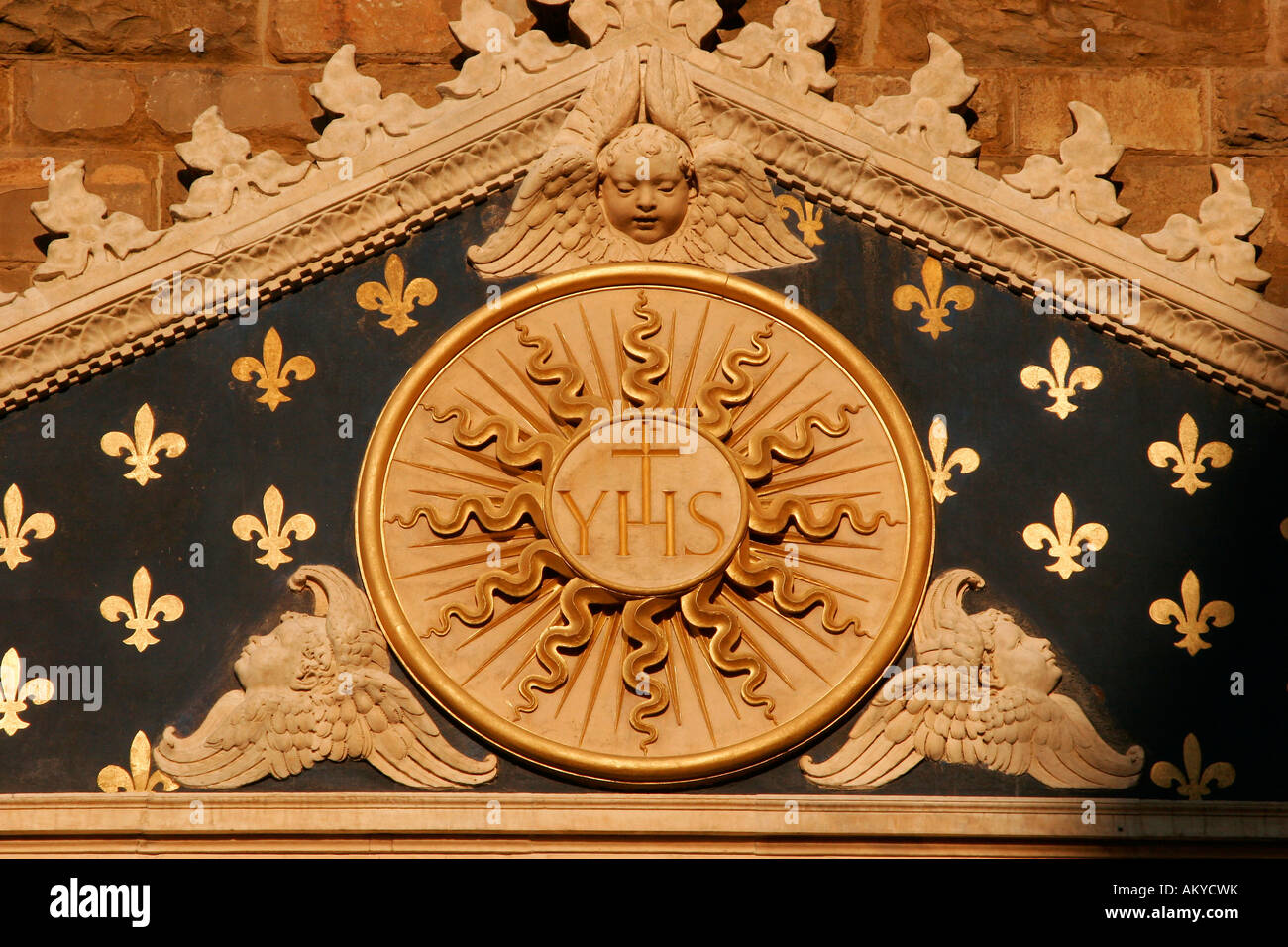 Relief at the Palazzo Vecchio, Florence, Tuscany, Italy Stock Photo