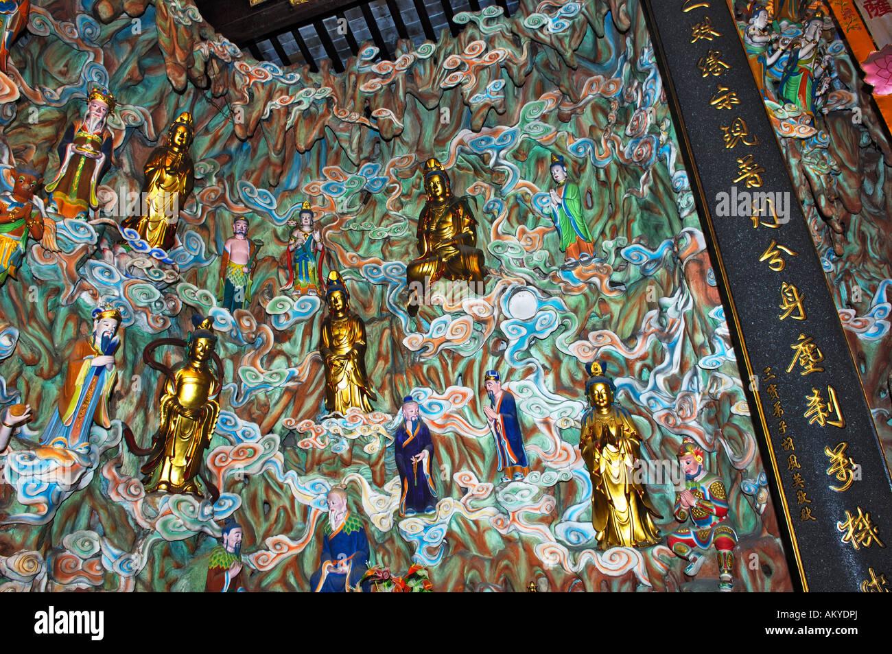 Figurines, gods' heaven, Longhua temple, Shanghai, China Stock Photo