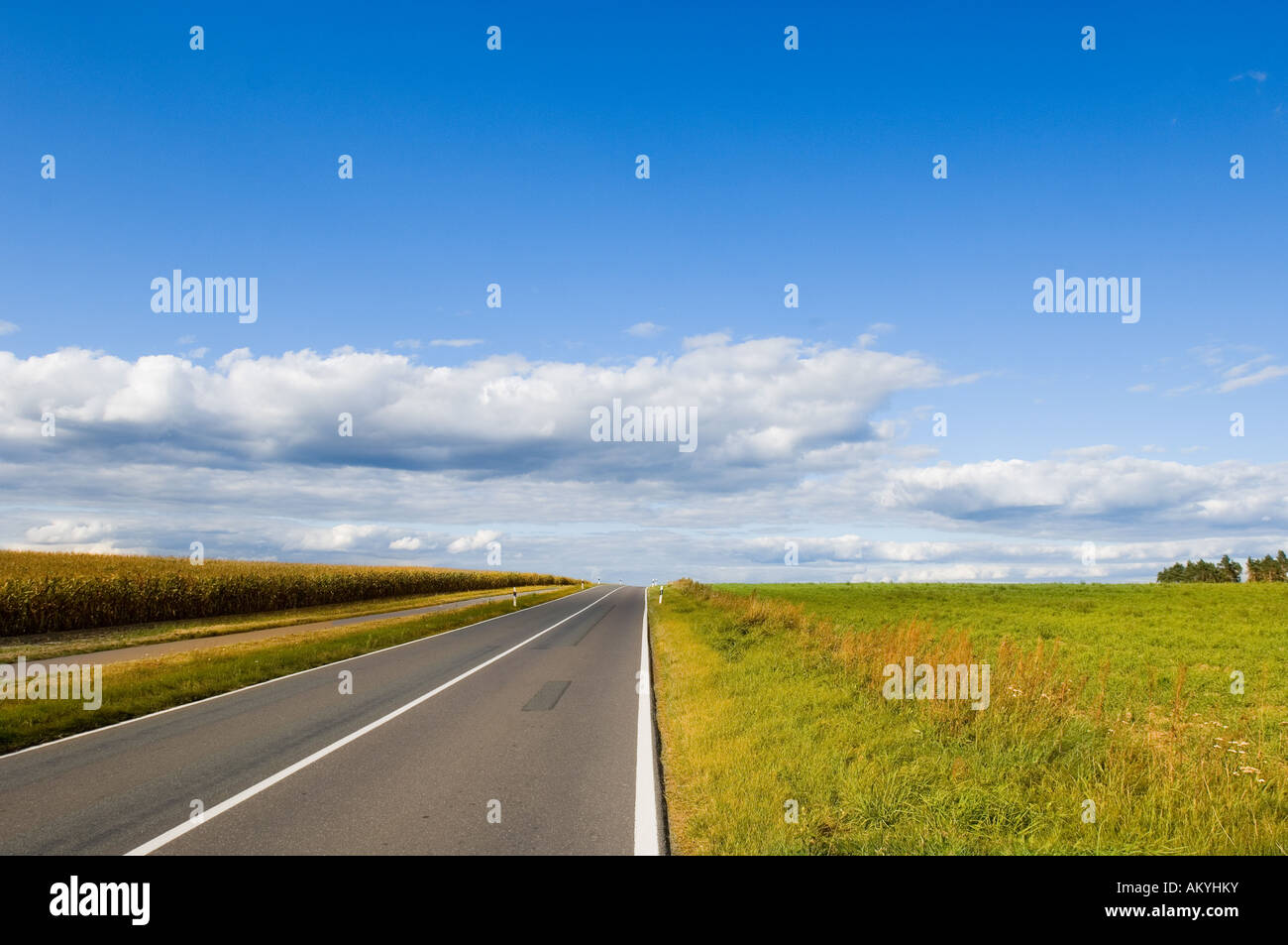 Road to nowhere, Germany - Stock Image