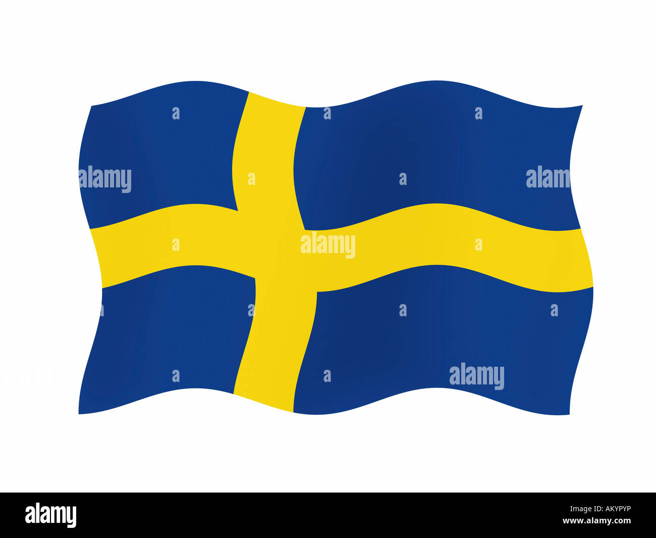 The flag of Sweden - graphic - Stock Image