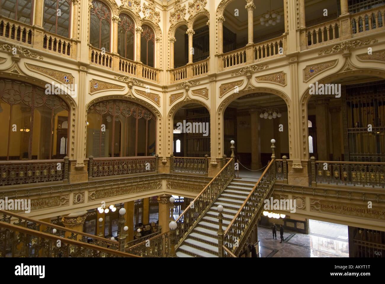 Historic main postoffice in Mexico City, Mexico - Stock Image