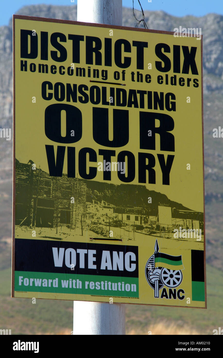 ANC Election Poster African National Congress Table Mountain Cape Town South Africa RSA Thabo Mbeki - Stock Image