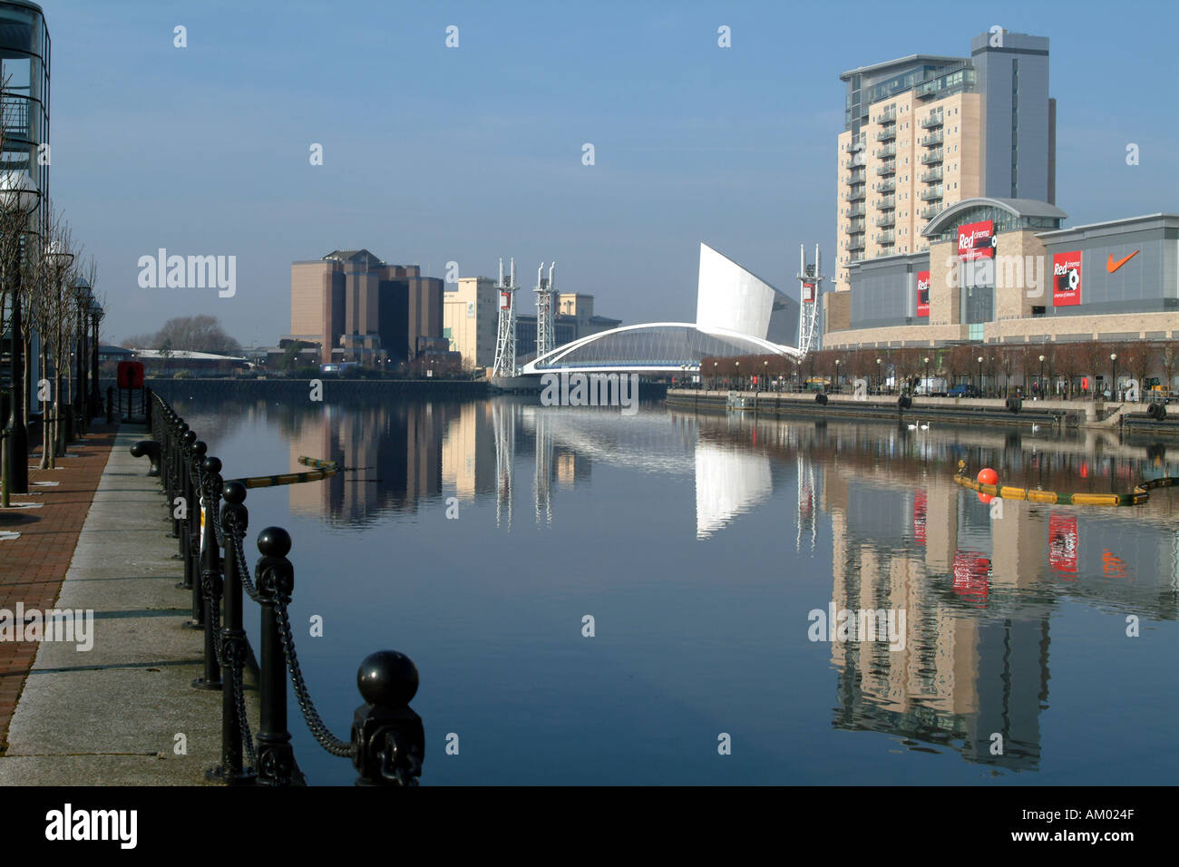 Inner City Development at Salford Quays Greater Manchester Northern England UK - Stock Image
