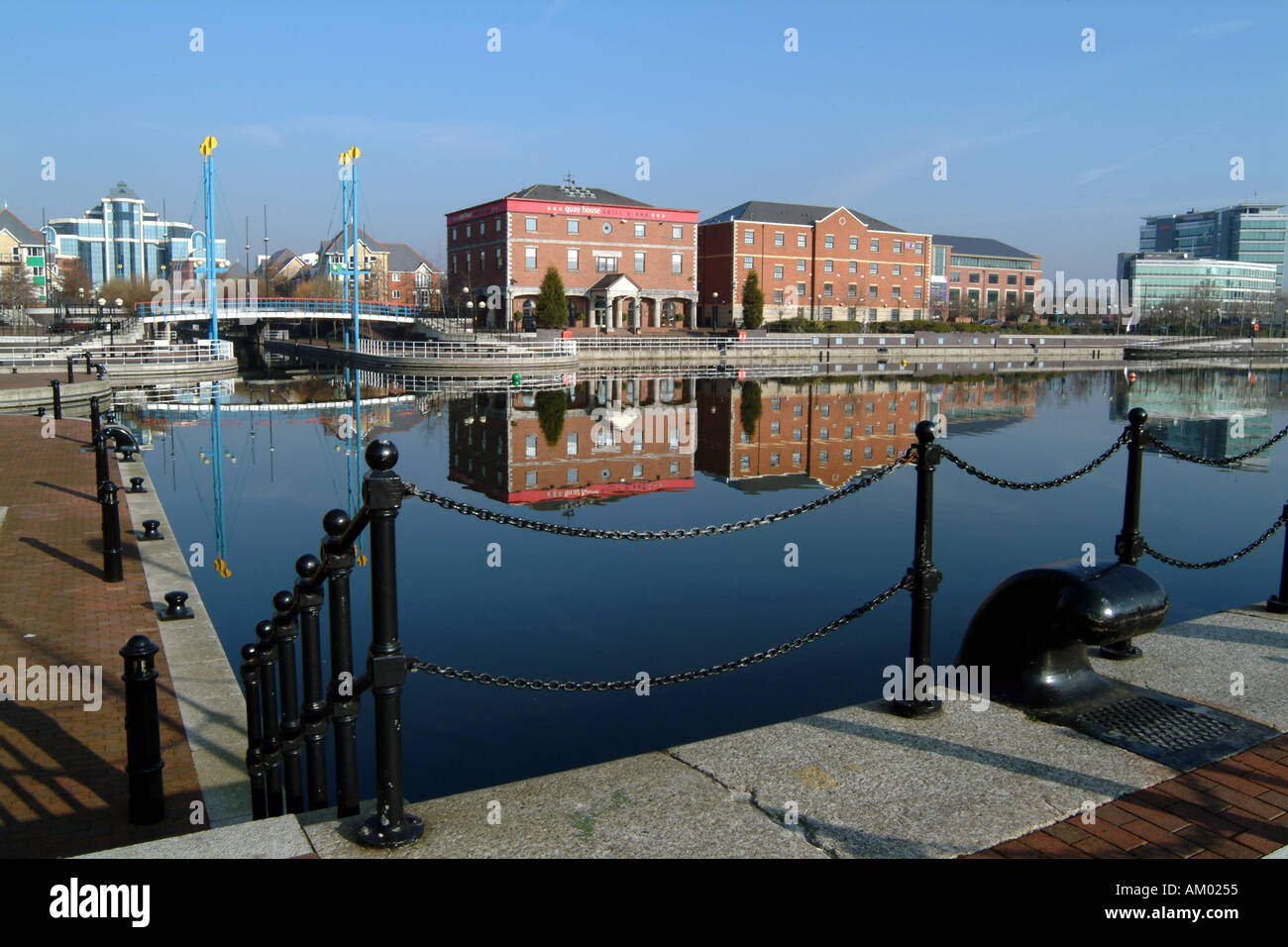 Inner City Development at Salford Quays Greater Manchester Northern England UK EU - Stock Image