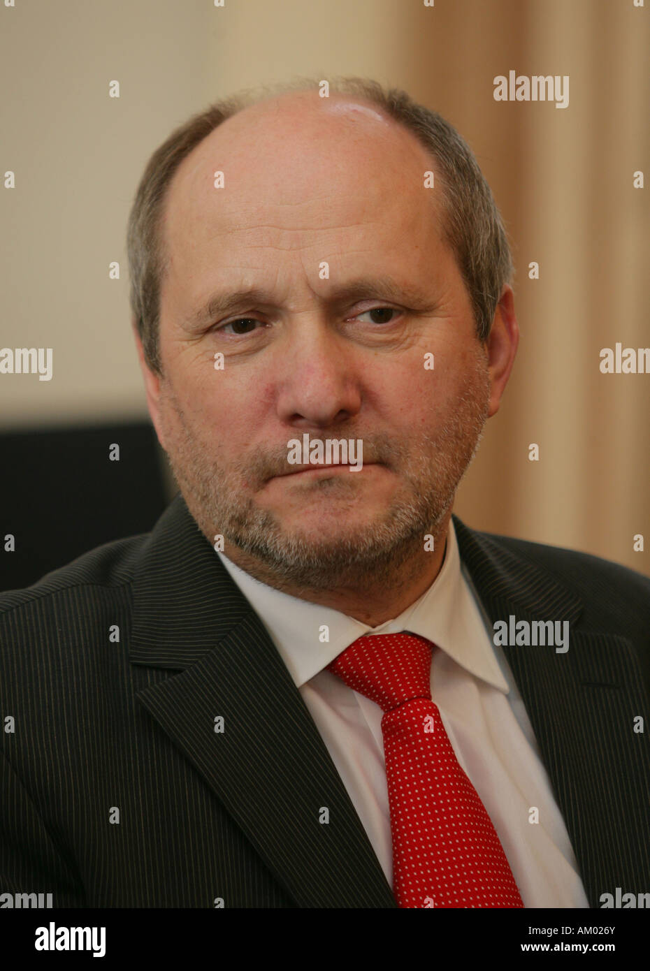 Dr. Ingolf Deubel, minister of finance in rhineland-palatinate, germany - Stock Image