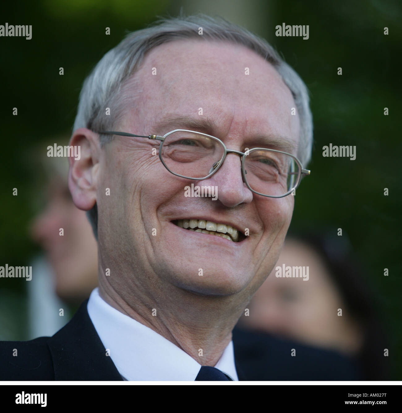 August Hanning, Federal undersecretary of the Interior and former President of the German intelligence service, - Stock Image