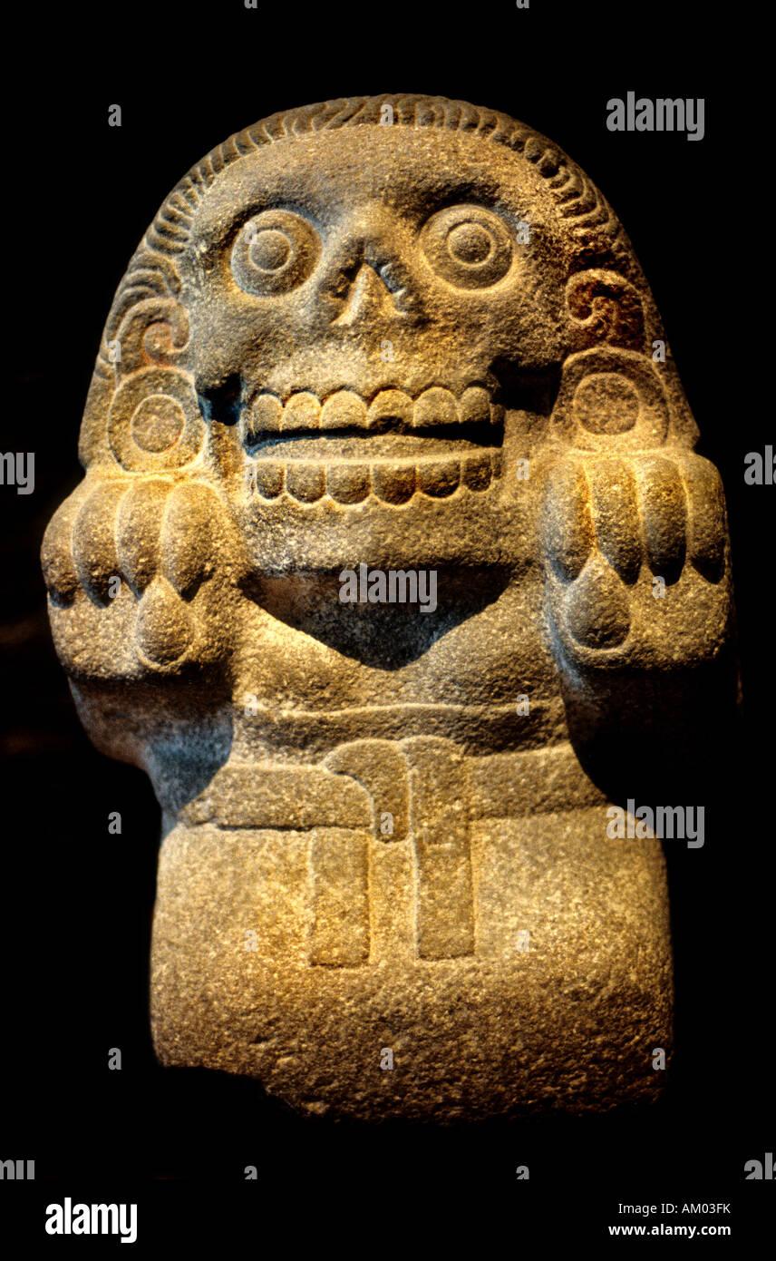 God of Dead Mictecacihuatl Aztec dead stone Mexico Mexican ...