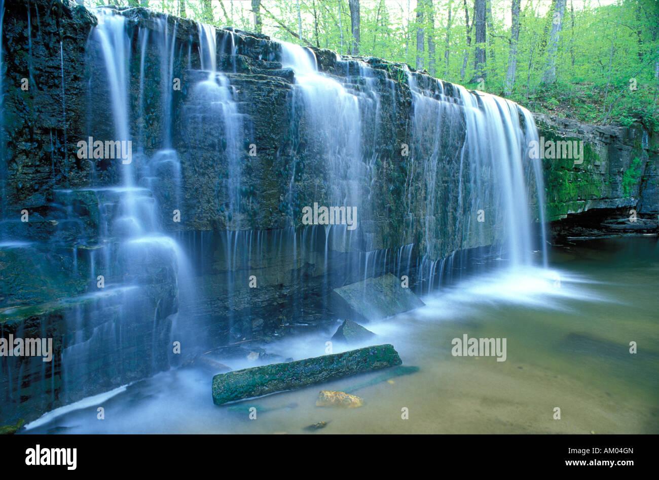 Hidden Falls along Prairie Creek at Nerstrand Big Woods State Park Minnesota - Stock Image