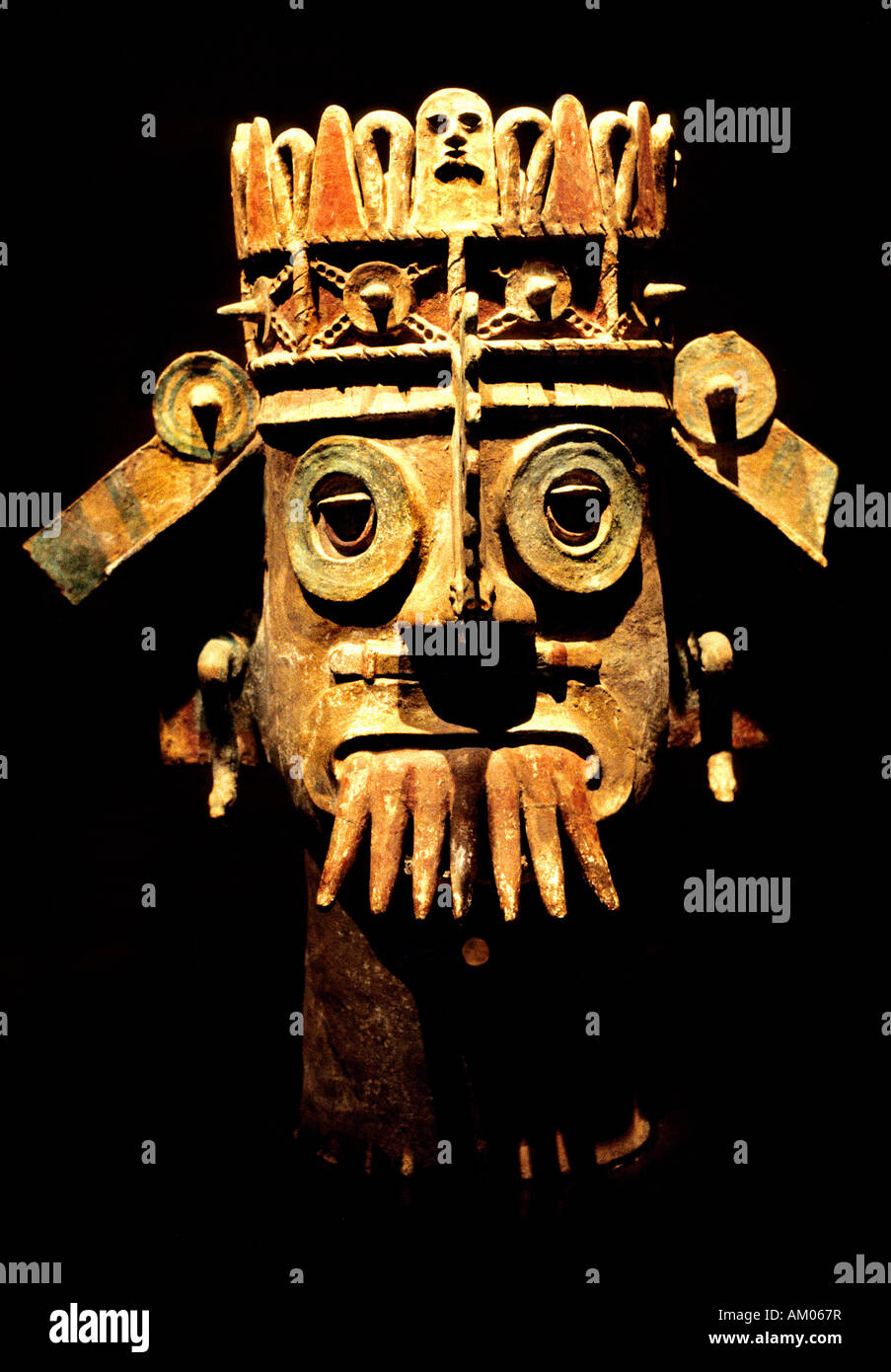 Pueblan God of Water in the National Anthropology Museum  Chapultepec Mexico City Stock Photo