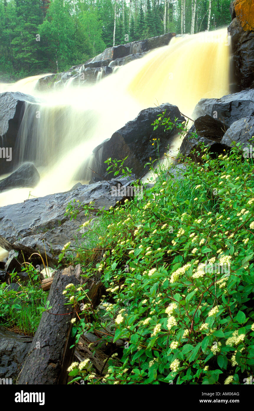 Middle Falls at Grand Portage State Park Minnesota - Stock Image