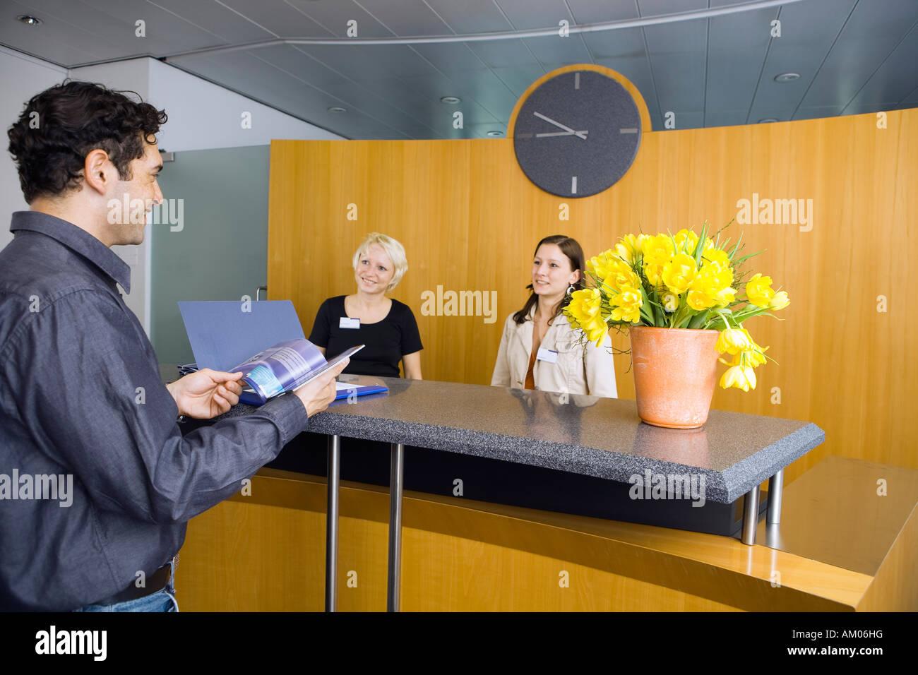 Greeting, reception Stock Photo