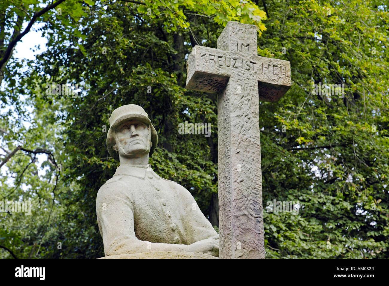 War memorial, Vinsebeck, Steinheim, North Rhine-Westphalia, NRW, Germany Stock Photo
