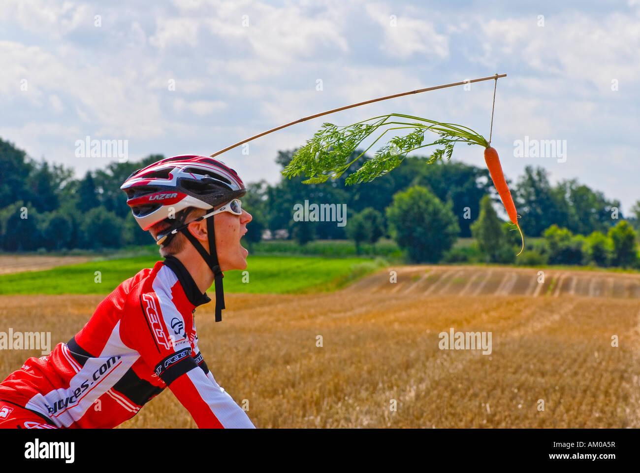 Cycling under doping suspicion - Stock Image