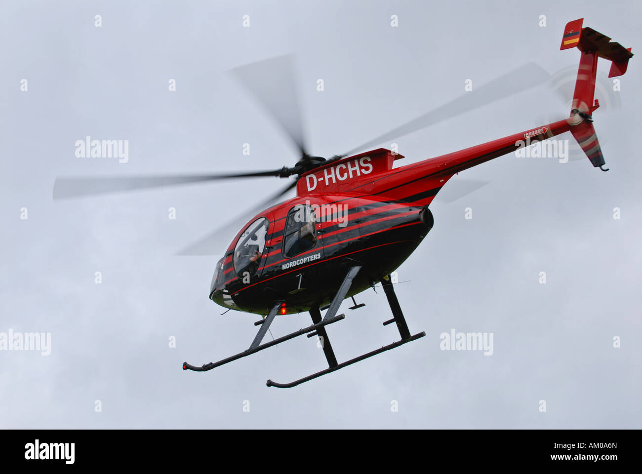 Starting MD500E helicopter - Stock Image