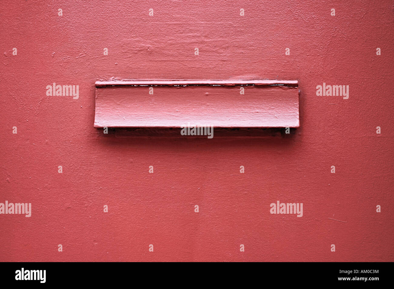 Lid Of Red Mail Box - Stock Image
