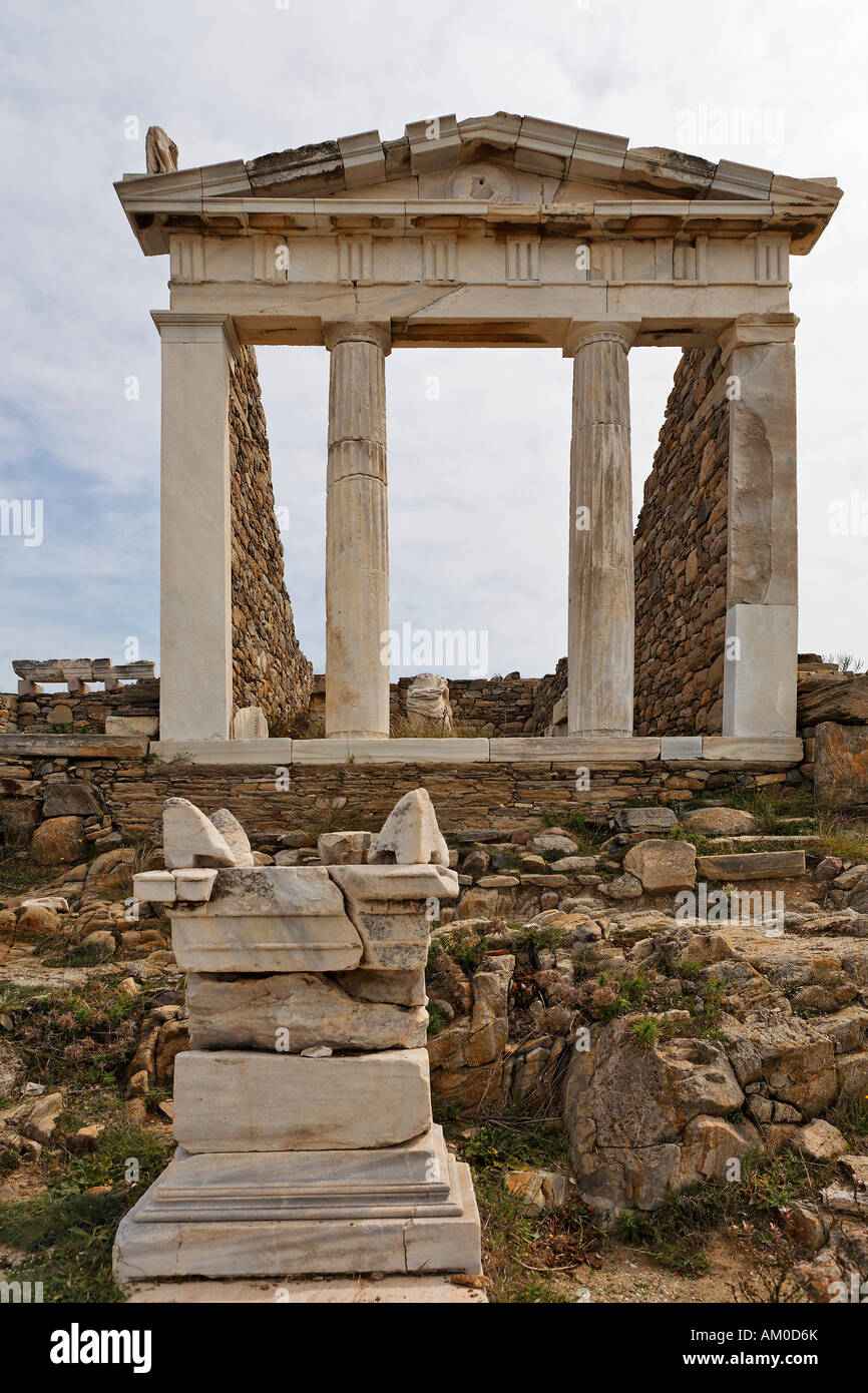 Temple of Isis second century BC, Delos, Greece - Stock Image