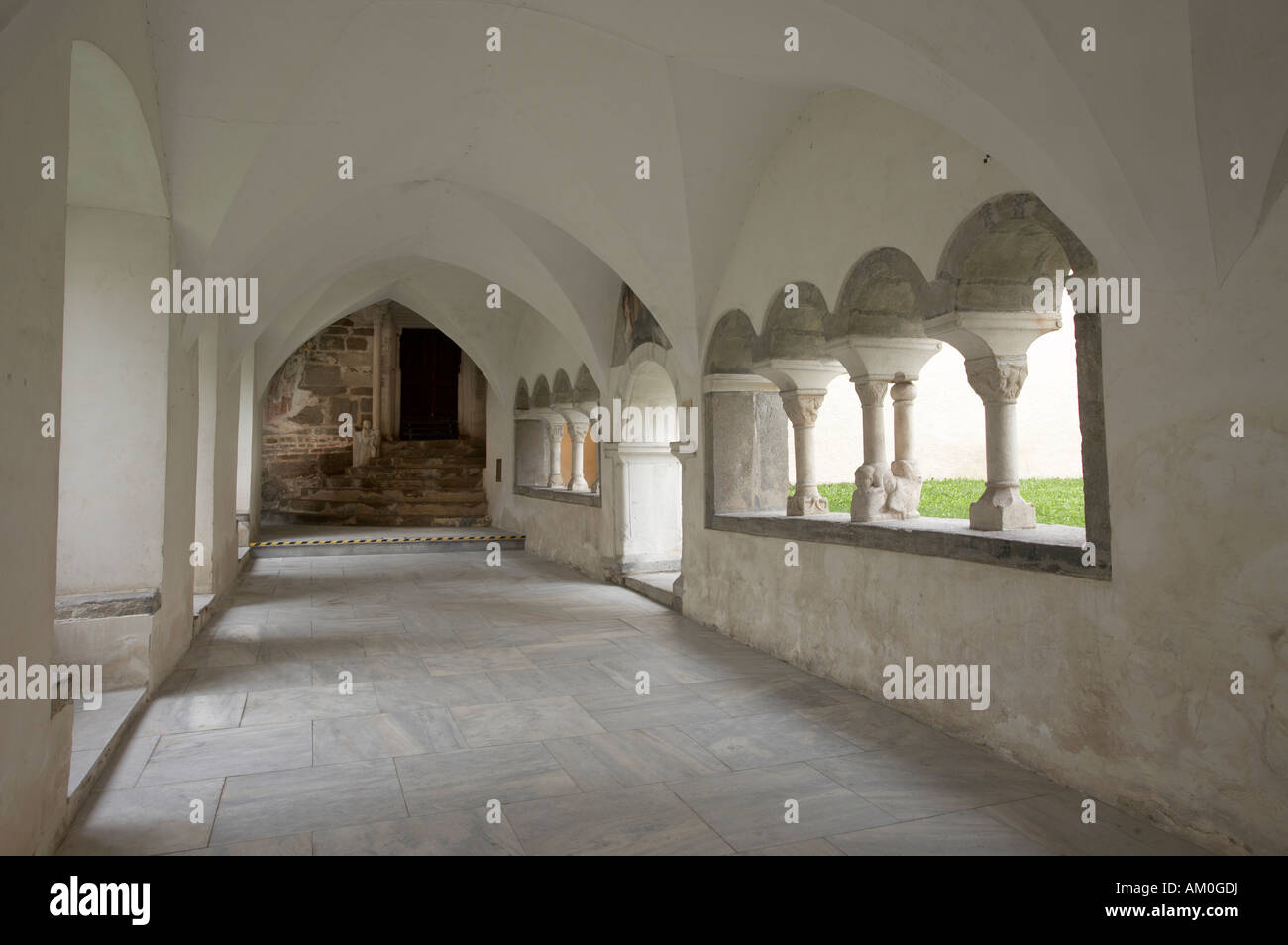 Cloister, Millstatt monastery, Carinthia, Austria - Stock Image