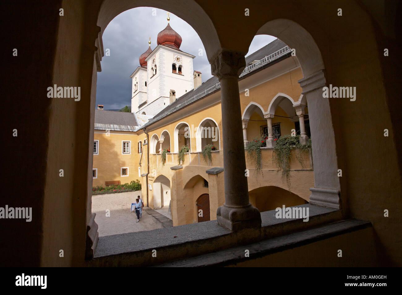 Millstatt monastery, Carinthia, Austria - Stock Image