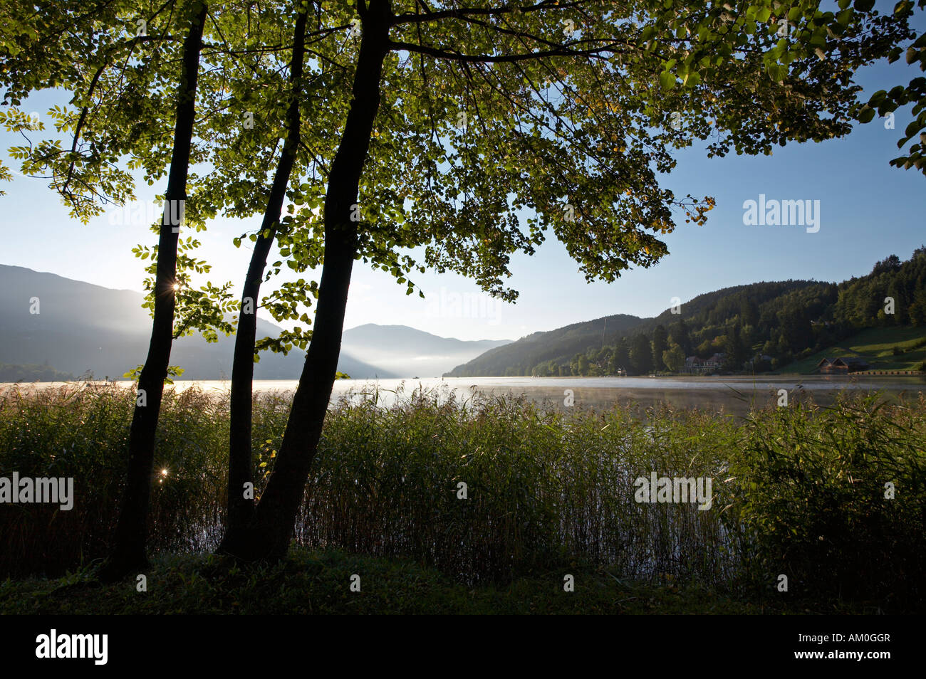 Lake Millstatt, Seeboden, Carinthia, Austria Stock Photo