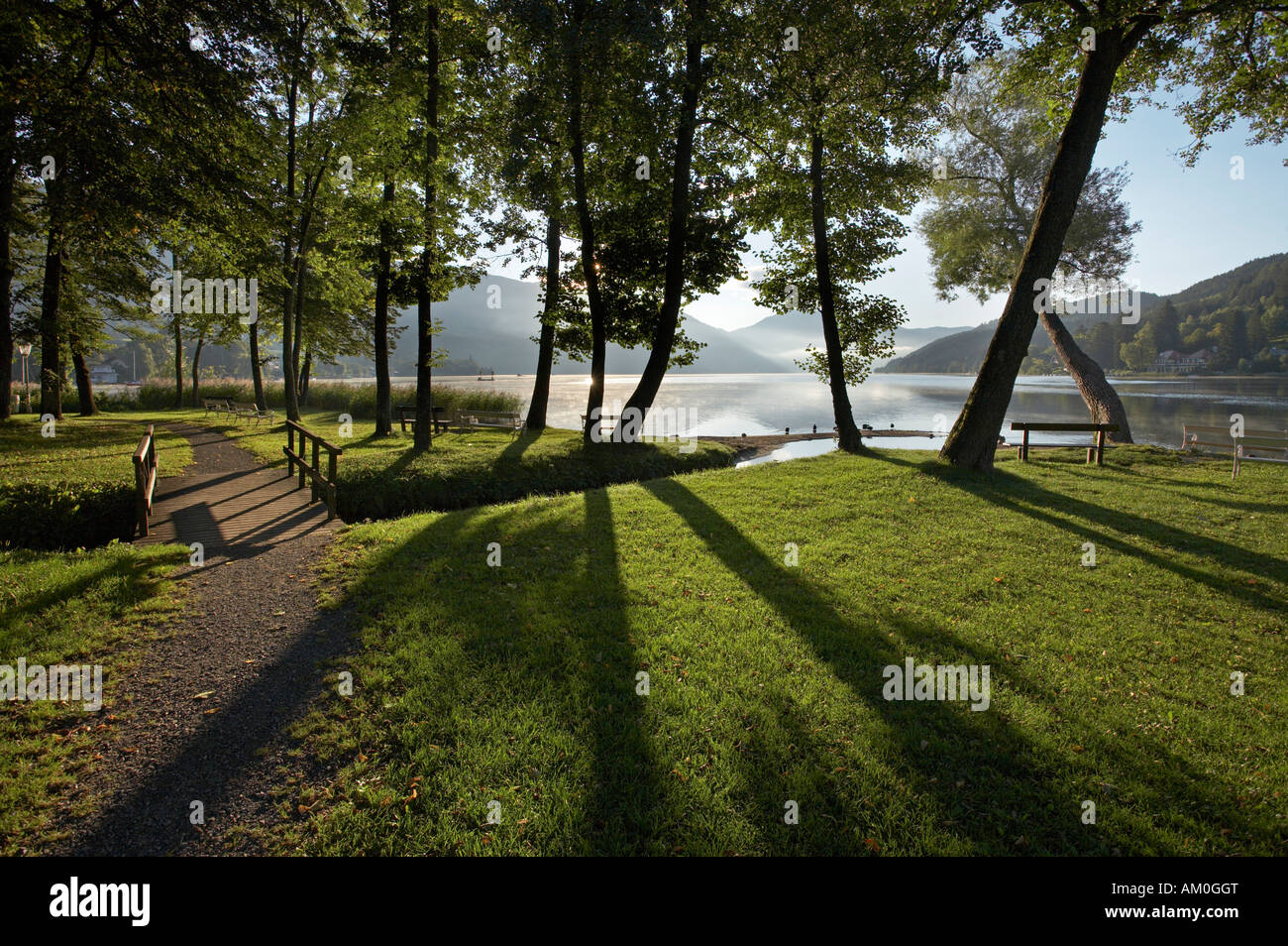 Lake Millstatt, Seeboden, Carinthia, Austria Stock Photo