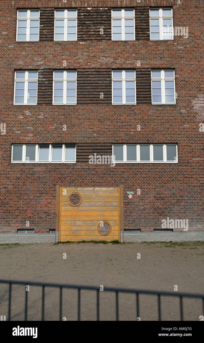 Tristesse - German school yard with no green and no pupils, Germany, Europe - Stock Image
