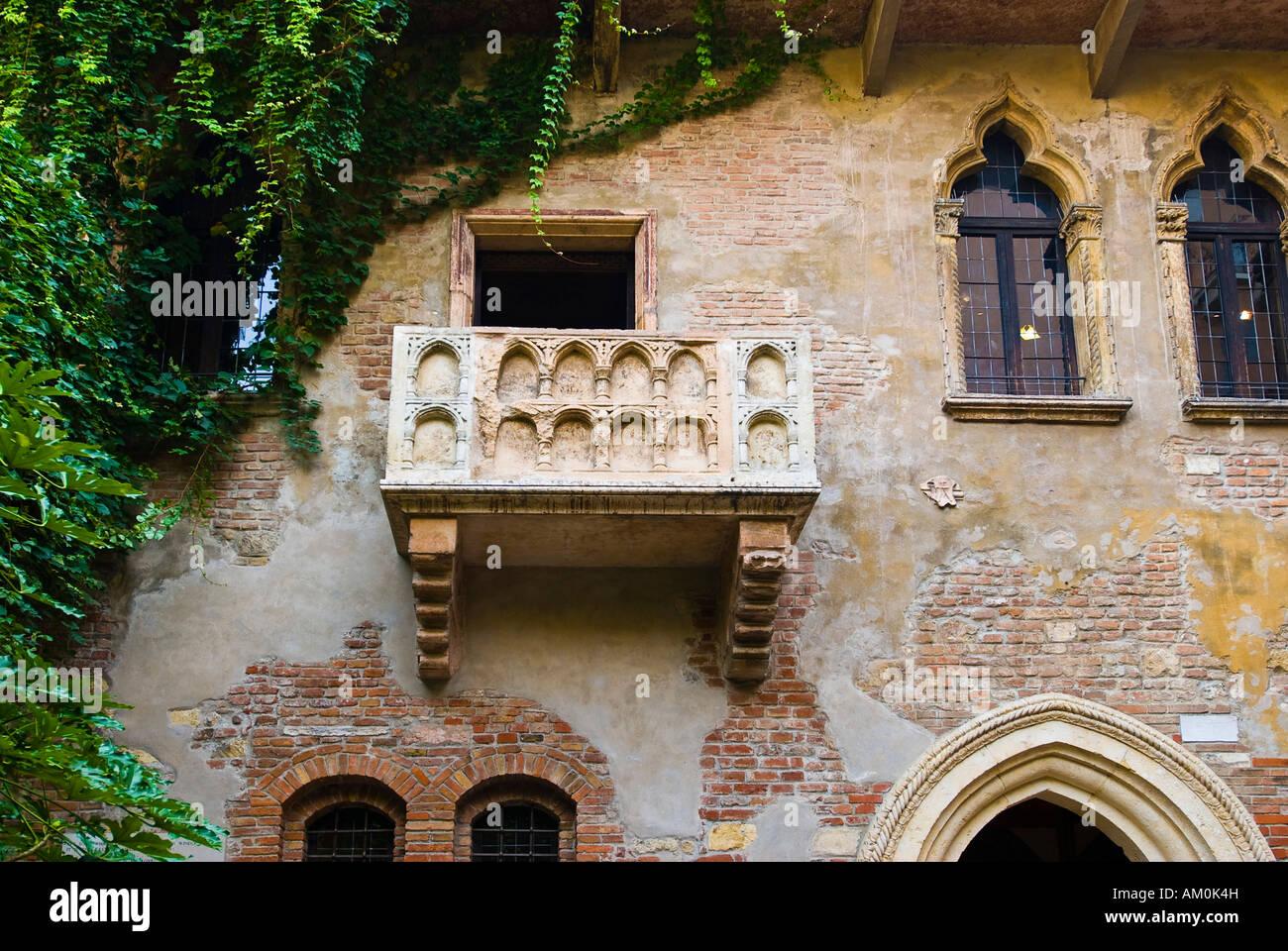 Balcony Casa di Giuletta, Julia House, Verona, Italy Stock Photo
