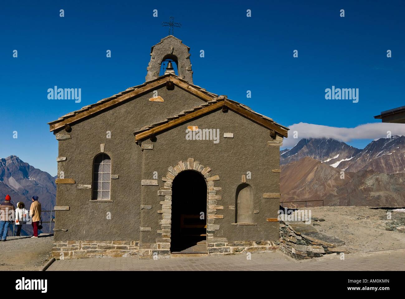Chapell on Gornergrat, Zermatt, Switzerland - Stock Image