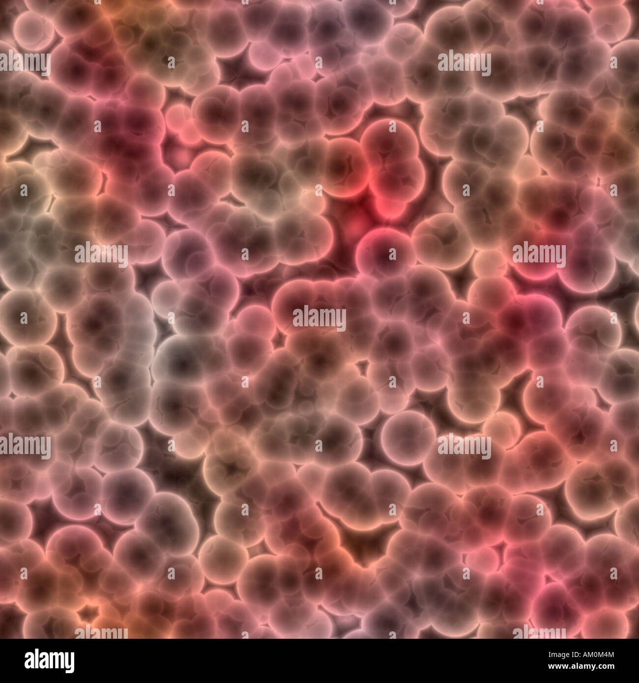a large rendered image of bacteria or cells under a microscope - Stock Image