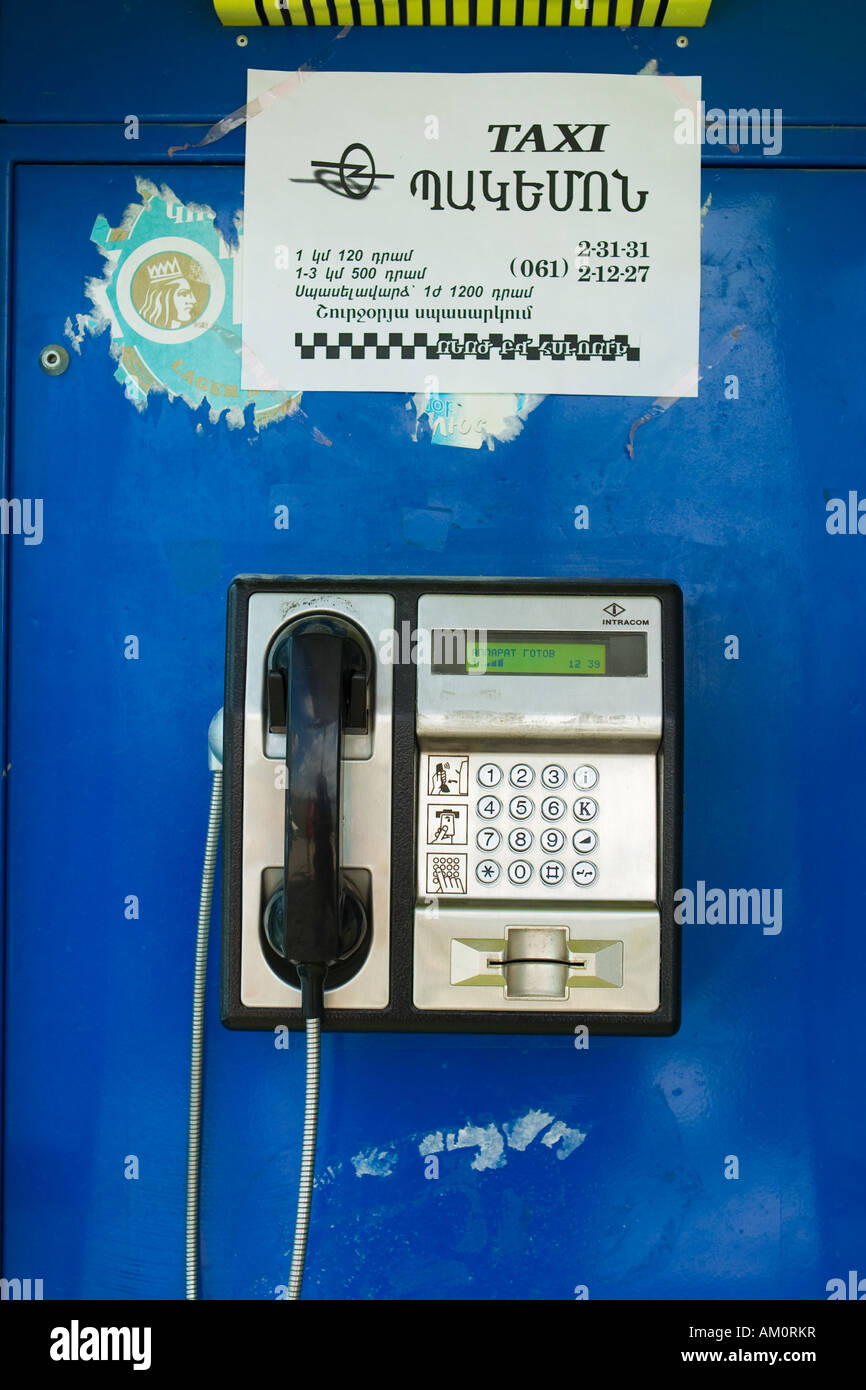 armenia yerevan calling card pay telephone sign in armenian and english pay phone stock image - Payphone Calling Cards
