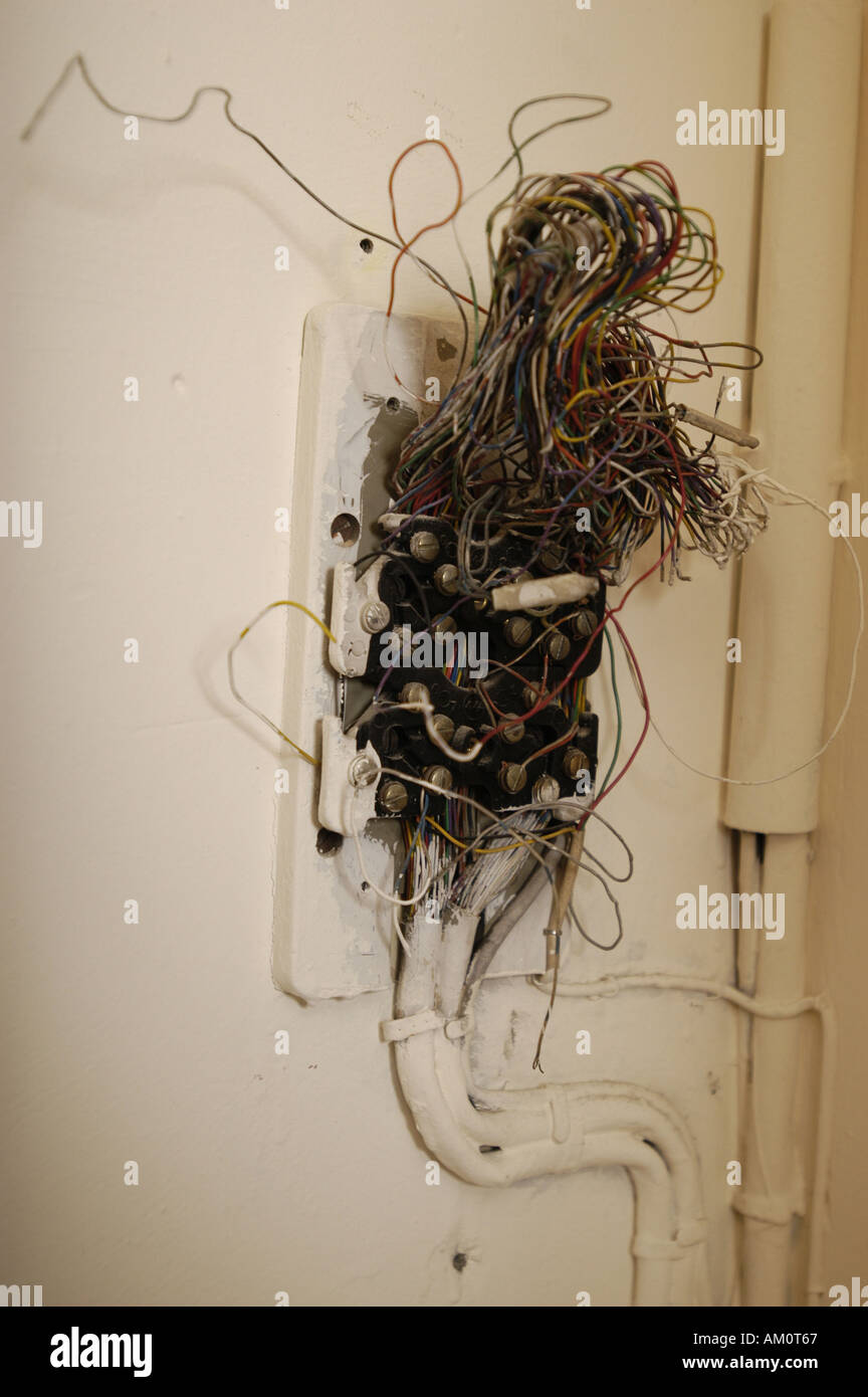 Amazing Exposed Electrical Wires Stock Photo 4933734 Alamy Wiring Cloud Hisonuggs Outletorg