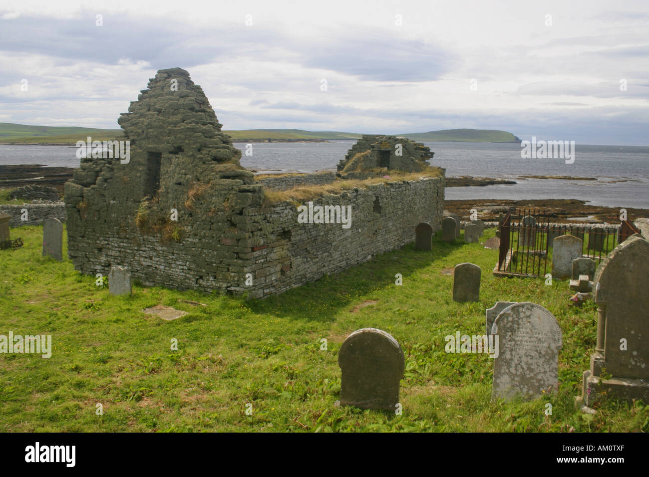 The Westness farmstead at Skaill, Rousay, Orkney - Stock Image