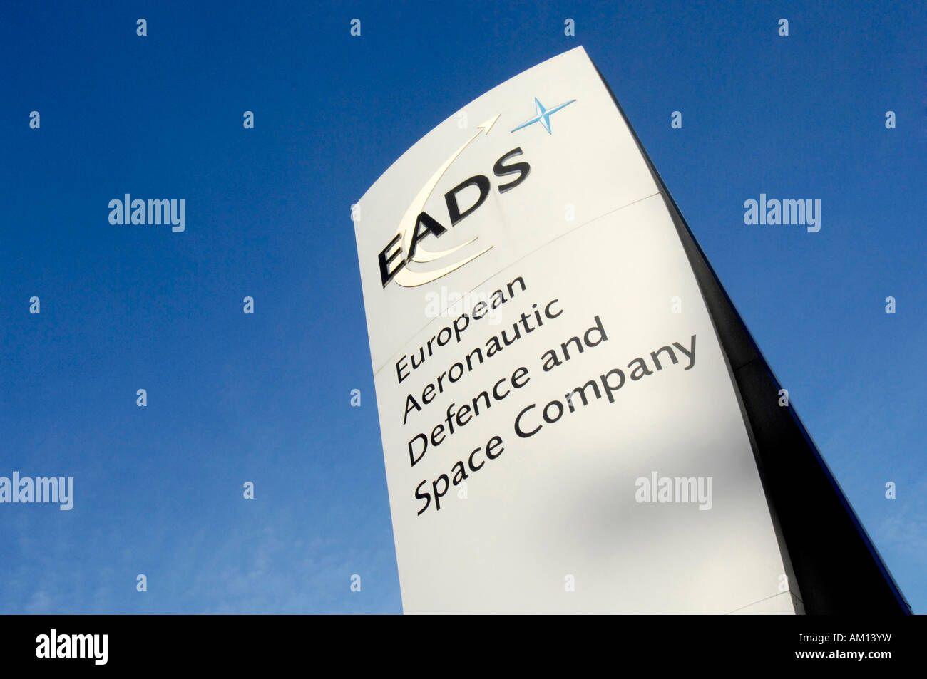 Sign: EADS- European Aeronautic Defence ans Space Comany. EADS - - Stock Image