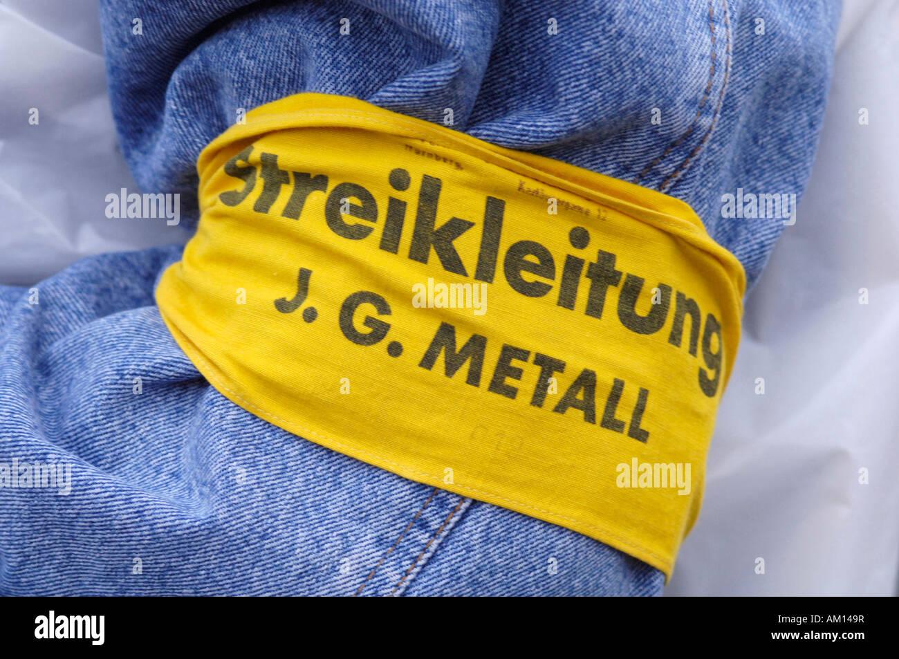 Armlet: Strike organizer in charge - IGM. - Stock Image
