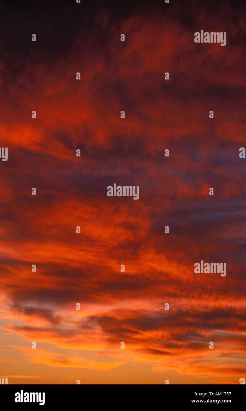 Sky Cornwall England UK - Stock Image