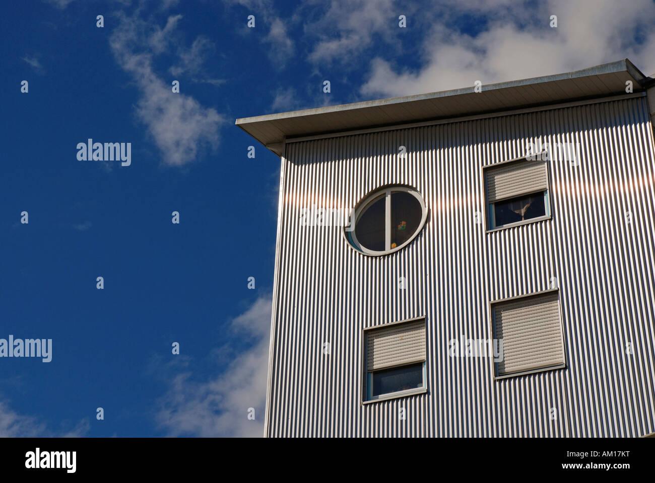 Modern appartment house, Ulm, Baden-Wuerttemberg, Germany Stock Photo