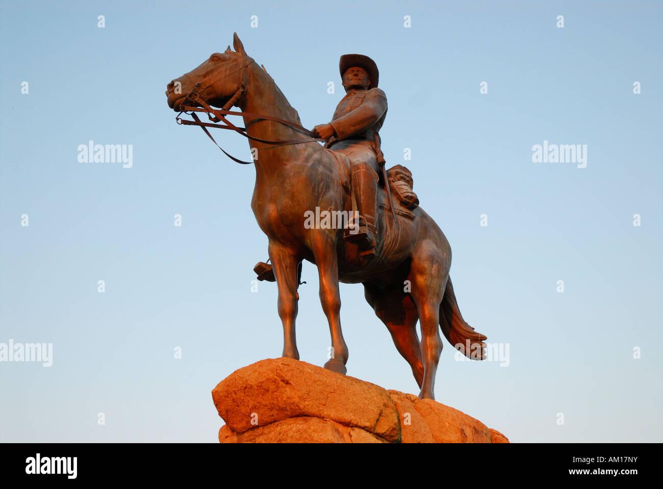 Reiterdenkmal (horseman memorial), Windhuk, Namibia Stock Photo
